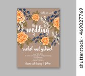 beautiful wedding floral vector ... | Shutterstock .eps vector #469027769
