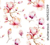 watercolor seamless wallpaper... | Shutterstock . vector #469032299