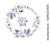 watercolor floral boho  flower... | Shutterstock . vector #469032404