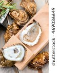 Shucked Oysters On Shucking...