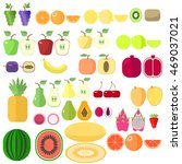 fruit set is different  bright  ... | Shutterstock .eps vector #469037021