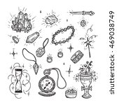 hand drawn doodle magic vector...   Shutterstock .eps vector #469038749