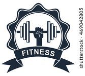 logo of fitness club. elements... | Shutterstock .eps vector #469042805