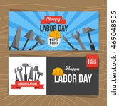 happy labor day template flyer... | Shutterstock .eps vector #469048955