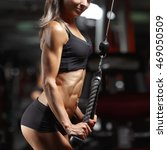 fitness woman in the gym. young ... | Shutterstock . vector #469050509