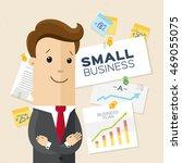 happy entrepreneur  businessman ... | Shutterstock .eps vector #469055075