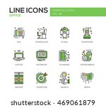 set of modern vector office... | Shutterstock .eps vector #469061879