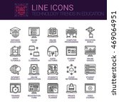 simple icons set of technology... | Shutterstock .eps vector #469064951