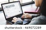 register enquiry online web... | Shutterstock . vector #469072289