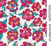 seamless pattern with doodles... | Shutterstock .eps vector #469074341