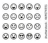 emoji icons set. smiley images  | Shutterstock .eps vector #469074551