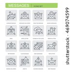 set of vector linear icons.... | Shutterstock .eps vector #469074599