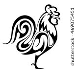 rooster as chinese zodiac... | Shutterstock .eps vector #469075451