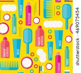 vector beauty products seamless ... | Shutterstock .eps vector #469075454