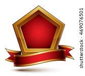 heraldic vector template with... | Shutterstock .eps vector #469076501