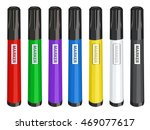 colorful markers set vector... | Shutterstock .eps vector #469077617