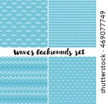 vector set of seamless patterns.... | Shutterstock .eps vector #469077749