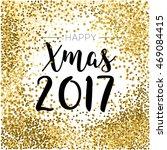 gold glitter merry christmas... | Shutterstock .eps vector #469084415