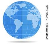 globe earth symbol flat icon...   Shutterstock . vector #469084631