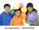 an adorable kid playing with... | Shutterstock . vector #46910359