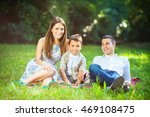 happy family relaxing at the...   Shutterstock . vector #469108475