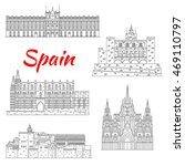 spanish tourist sights icon of... | Shutterstock .eps vector #469110797
