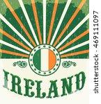 Ireland Vintage Old Poster Wit...