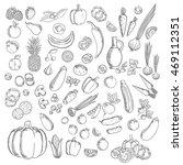 apples  berries  pineapple ... | Shutterstock .eps vector #469112351