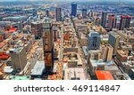 Skyscrapers in a big city. City life. Amazing urban landscape. Awesome photo of Megalopolis. Modern lifestyle. Wonderful image of City Business District. Beautiful wallpaper. Johannesburg