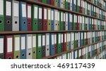 multicolored office binders. cgi | Shutterstock . vector #469117439