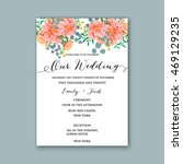 wedding invitation or card with ... | Shutterstock .eps vector #469129235