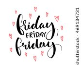 friday words and hand drawn... | Shutterstock .eps vector #469134731