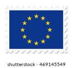 stamp flag european union | Shutterstock .eps vector #469145549