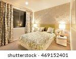 beautiful bedroom in luxury... | Shutterstock . vector #469152401