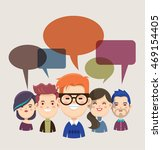 group of people with speech... | Shutterstock .eps vector #469154405