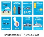 coast guard day cards set.... | Shutterstock .eps vector #469163135