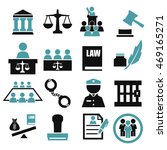 attorney  court  law icon set | Shutterstock .eps vector #469165271