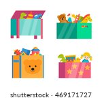 children toy boxes set isolated ... | Shutterstock .eps vector #469171727