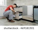 installation of kitchen.... | Shutterstock . vector #469181501