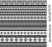 tribal seamless pattern.... | Shutterstock .eps vector #469187579