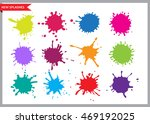 colorful paint splatters.paint... | Shutterstock .eps vector #469192025