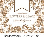 invitation with floral... | Shutterstock . vector #469192154