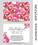 invitation with floral...   Shutterstock . vector #469192184