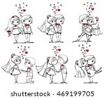 vector illustrations of wedding ... | Shutterstock .eps vector #469199705