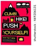 climb mountains  hike forward ... | Shutterstock .eps vector #469206131