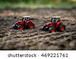Toy Tractors On The Field