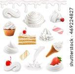 whipped cream and milk. sweet... | Shutterstock .eps vector #469224827