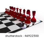chessmen on a chessboard | Shutterstock . vector #46922500