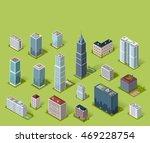 skyscraper logo building icon....   Shutterstock . vector #469228754