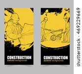 construction banners set.... | Shutterstock .eps vector #469229669